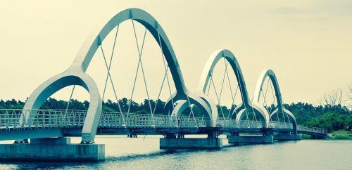 footbridge cycle bridge water