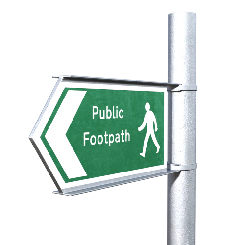 footpath sign direction