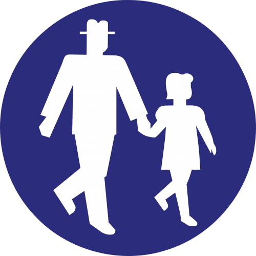 footpath pedestrian path road sign