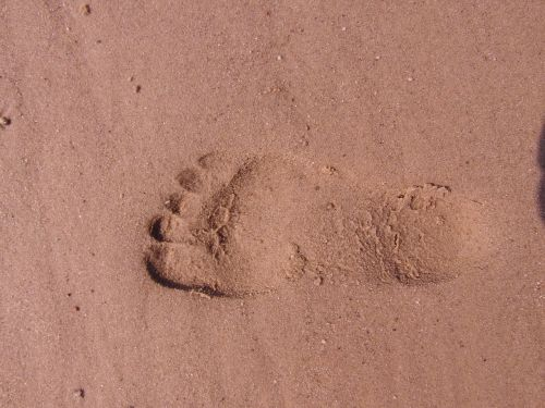 footprint barefoot trace