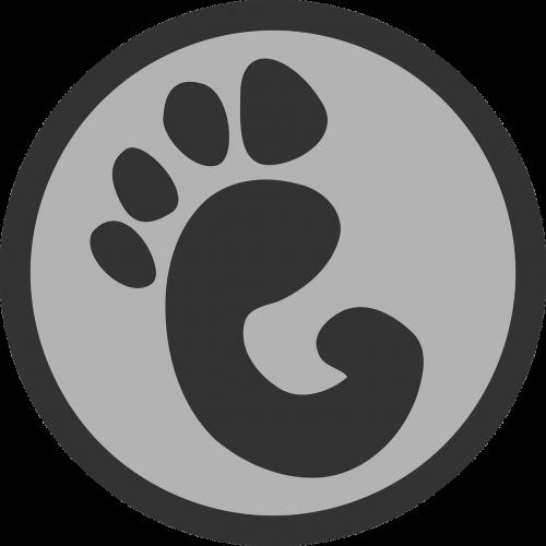 footprint paw print sign