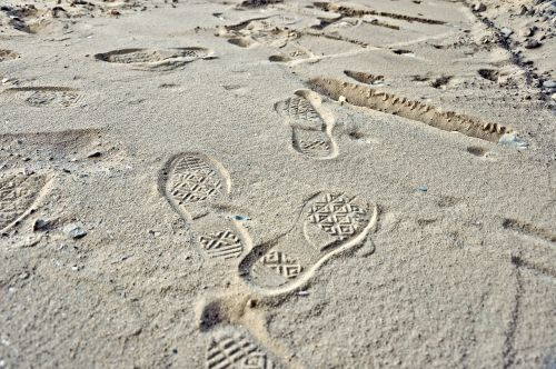 footprint print step