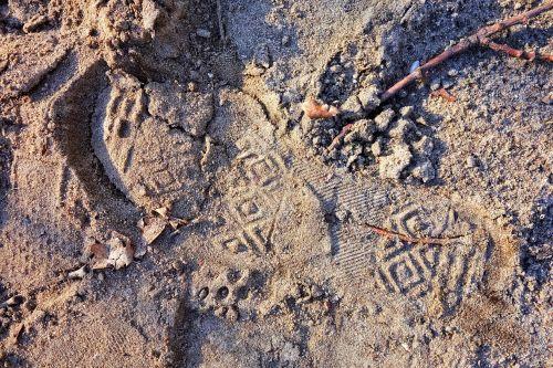footprint footstep human