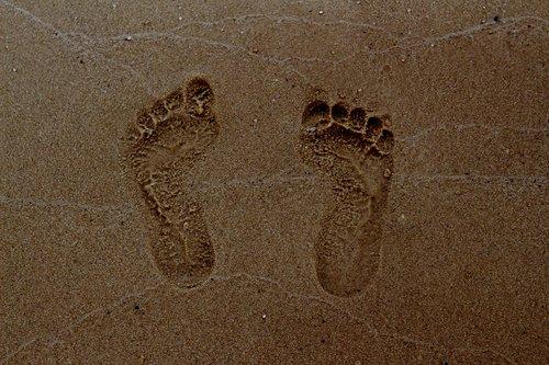 footprint  summer  sea
