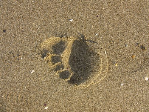 footprint sand run