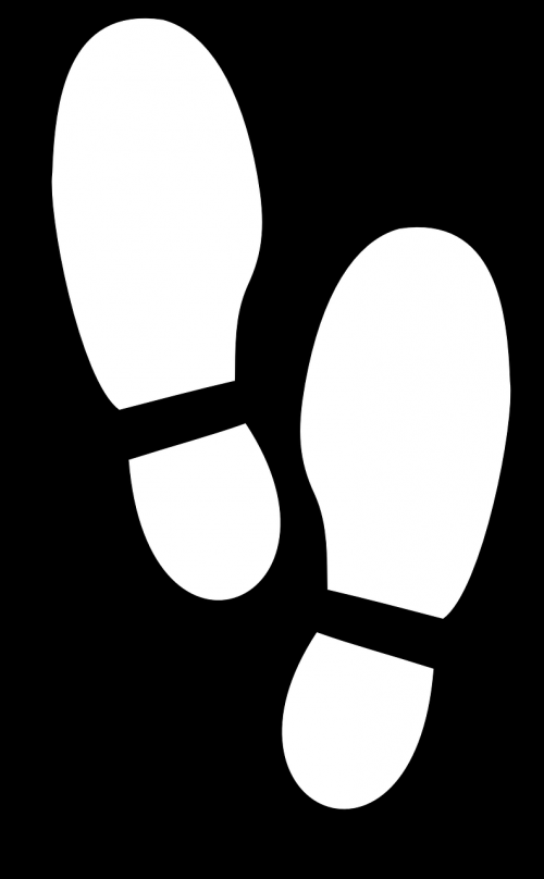 footprints soles track