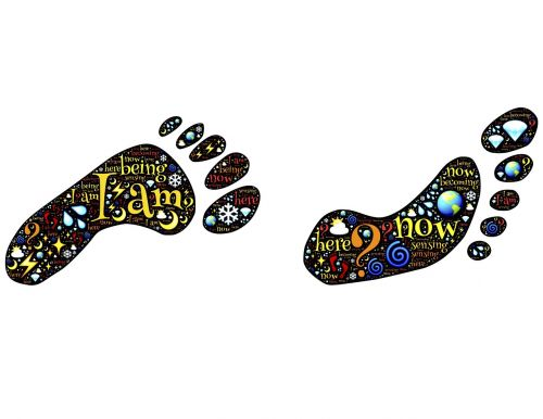 footprints feet tracks