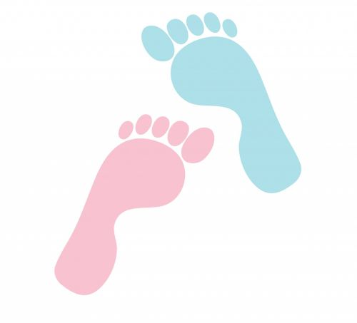 Footprints His & Hers Clipart