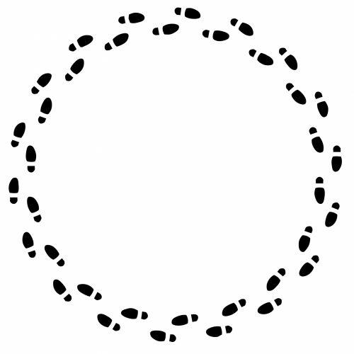 Footprints Logo Circle