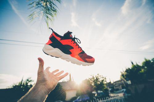 footwear hand nike