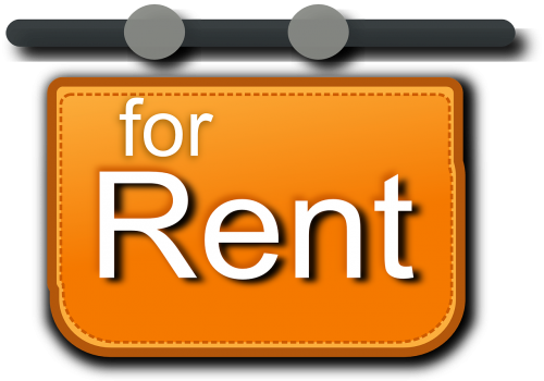 for rent sign rental