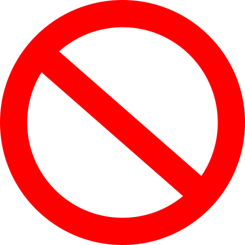 forbidden interdiction prohibition