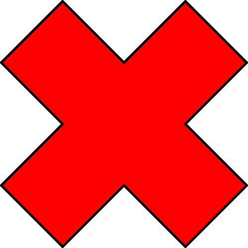 forbidden red cross