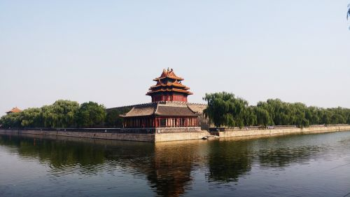 forbidden city watchtower beijing building