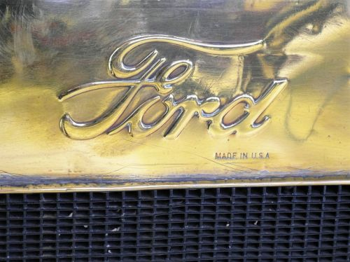 ford automotive logo radiator ford t
