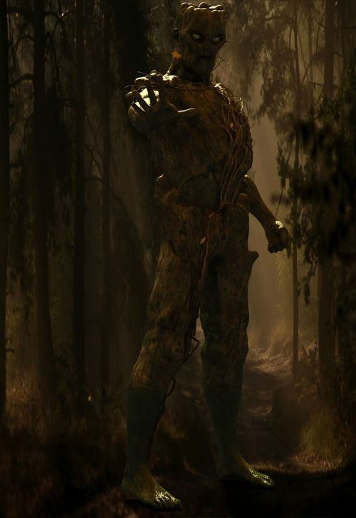 forest human figure