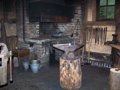 forge anvil fireplace
