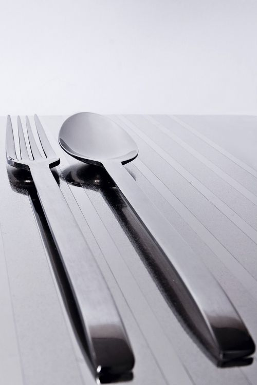 fork spoon steel