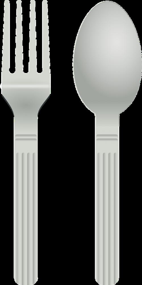fork spoon silverware