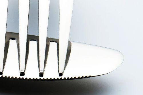 fork knife black