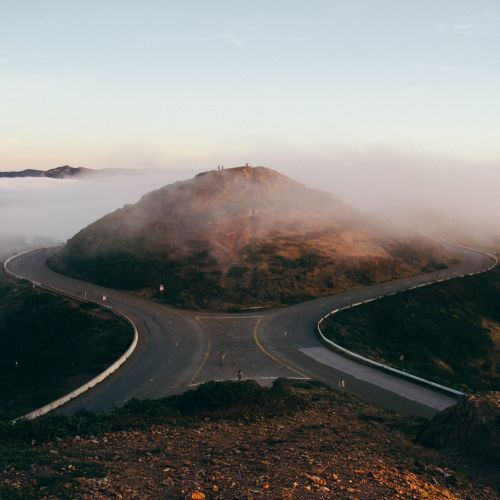forking road split road travel