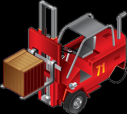 forklift fork-lift truck truck