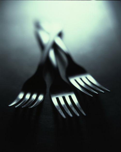 forks cutlery dishes