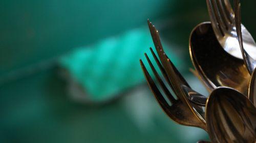 forks silverware sponge