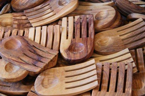 forks  olive wood  wooden forks