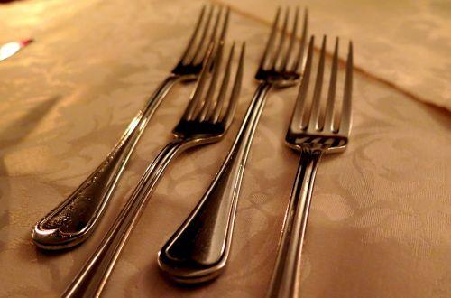forks cutlery kitchen cutlery