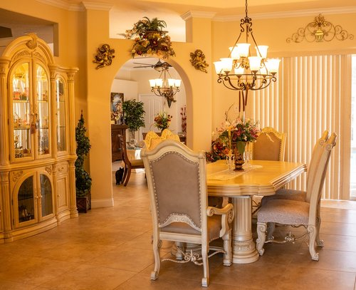 formal dining room  interior design  dining