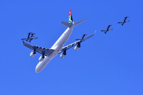 Formation Of Airbus & Silver Falcon
