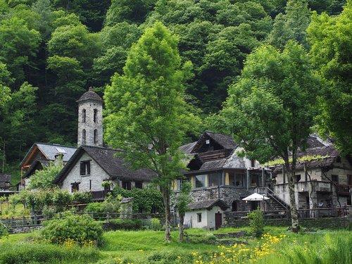 foroglio  village  stone houses