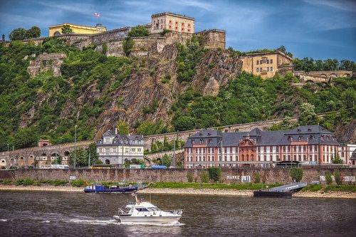 fortress  ehrenbreitstein  river