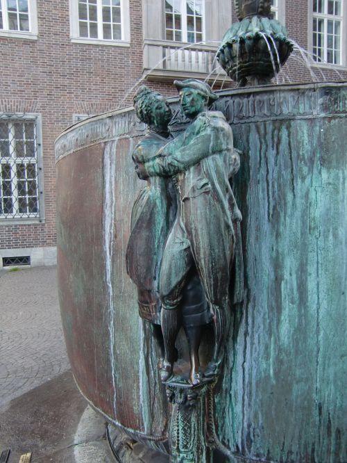 fountain figure bronze statue