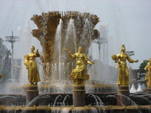 fountain women moscow