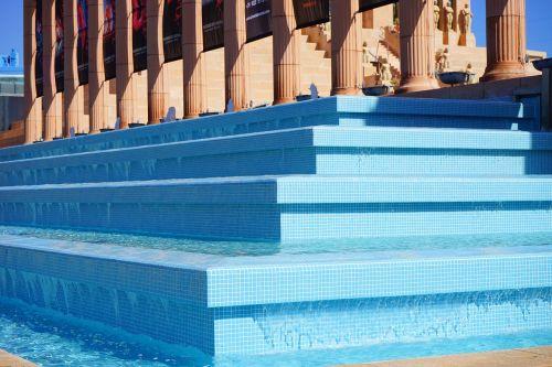 fountain stairs gradually