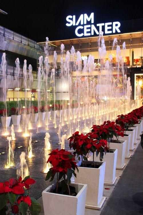 fountain siam center night shot