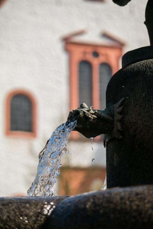 fountain water stone fountain
