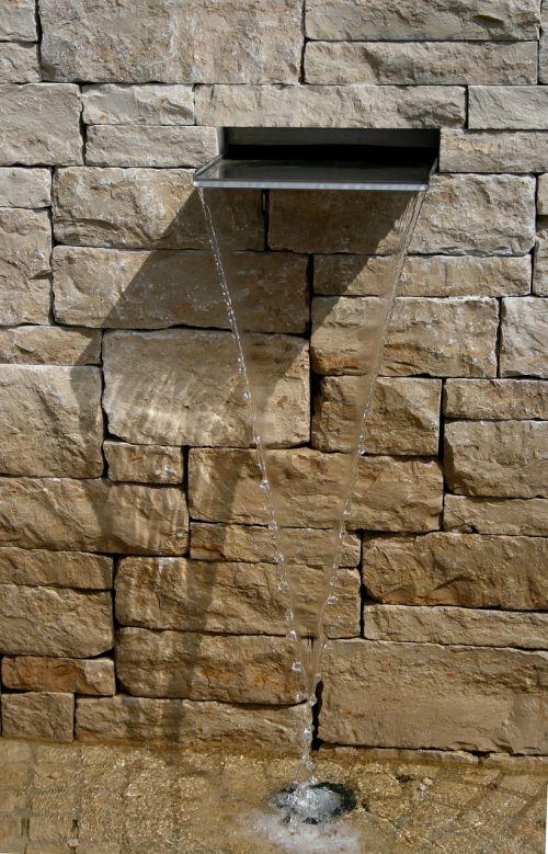 fountain water garden wall