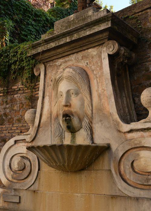 fountain in via giulia rome fountain rome