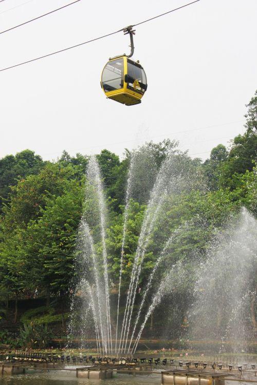 fountain on the cable car fountain cable car