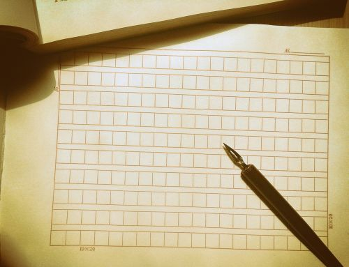 fountain pen manuscript written