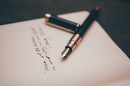 fountain pen notebook paper