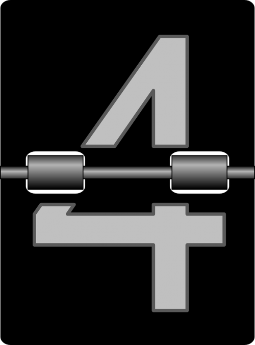 four numbers clock