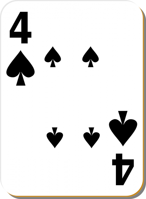 four spades playing cards