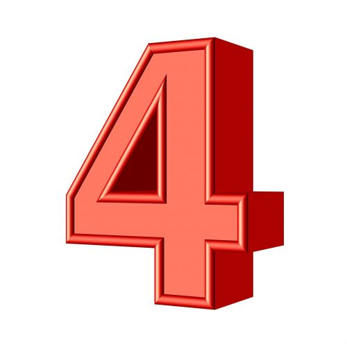 four 4 number