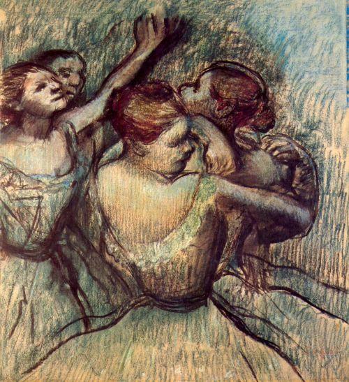 Four Dancers In Half Figure