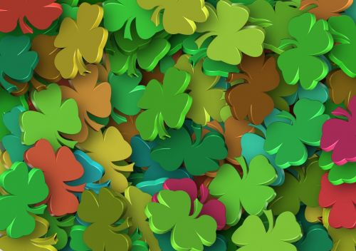 four leaf clover luck colorful