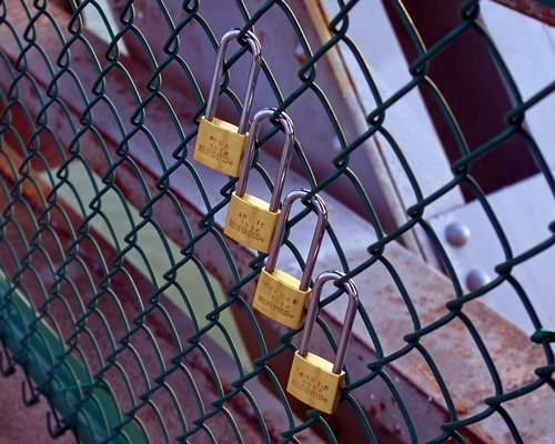 four love locks  love  padlock